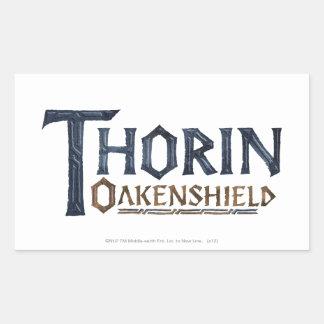 THORIN OAKENSHIELD™ Logo Blue Rectangular Sticker