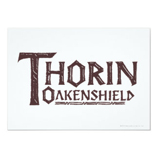 THORIN OAKENSHIELD™ Logo Brown Personalized Invitations