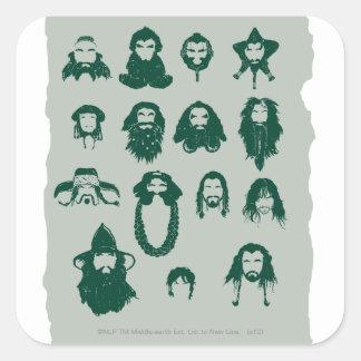 Thorin y pelo de Company Calcomanía Cuadradase