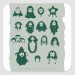 Thorin y pelo de Company Calcomanía Cuadradas Personalizadas