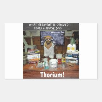 Thorium Thor God of Thunder Knowledge Dog Rectangular Sticker