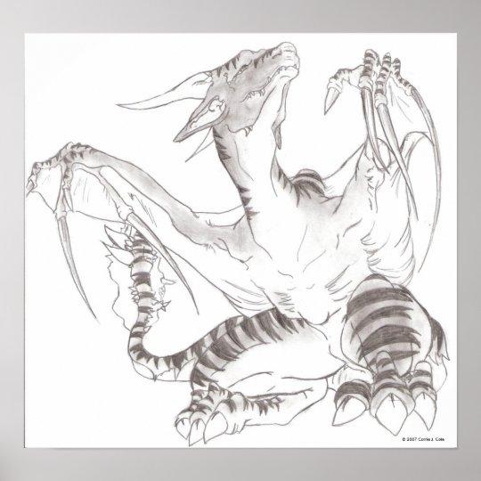 Thorn Dragon Unframed Canvas Print