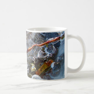 Thorn in Round Bubbles of Ice from Freezing Rain Classic White Coffee Mug