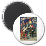 Thorn Magician ~ Dreamland Vintage Magic Act 2 Inch Round Magnet