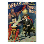 Thorn Magician ~ Dreamland Vintage Magic Act Greeting Cards