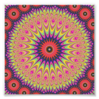 Thorn mandala photo print