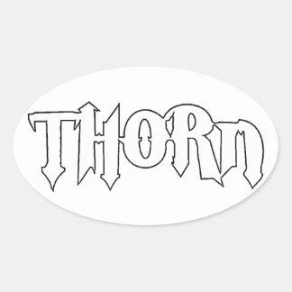 Thorn Original Logo Oval Sticker