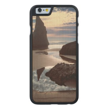 Thorn-Shaped seastack | Face Rock Wayside, OR Carved Maple iPhone 6 Slim Case