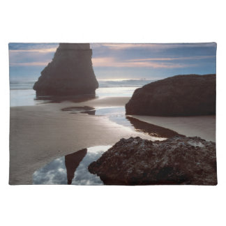 Thorn-Shaped seastack | Face Rock Wayside, OR Cloth Placemat