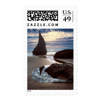 Thorn-Shaped seastack | Face Rock Wayside, OR Postage