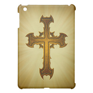 Thorn Spiked Cross Design Case For The iPad Mini