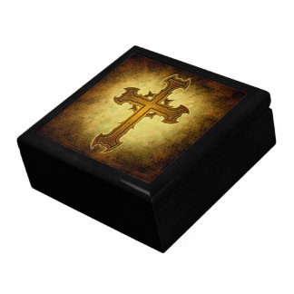 Thorn Spiked Cross Design Gift Box