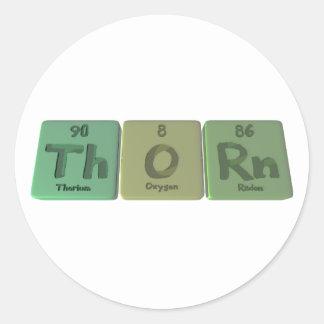 Thorn-Th-O-Rn-Thorium-Oxygen-Radon.png Classic Round Sticker