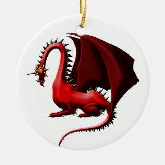 Thorn, the Red Dragon Ceramic Ornament