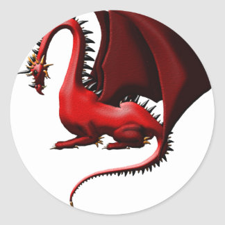 Thorn, the Red Dragon Classic Round Sticker