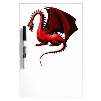 Thorn, the Red Dragon Dry Erase Board