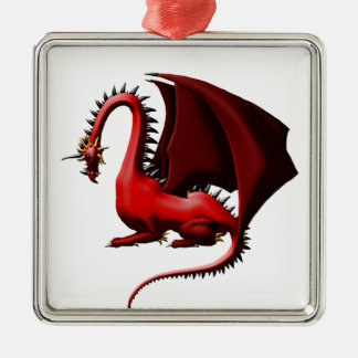 Thorn, the Red Dragon Metal Ornament