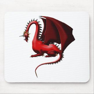 Thorn, the Red Dragon Mouse Pad