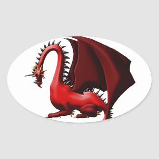 Thorn, the Red Dragon Oval Sticker