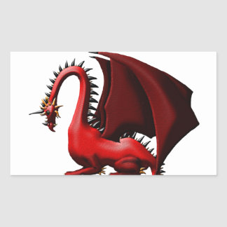 Thorn, the Red Dragon Rectangular Sticker