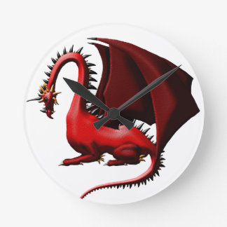 Thorn, the Red Dragon Round Clock