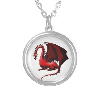 Thorn, the Red Dragon Silver Plated Necklace