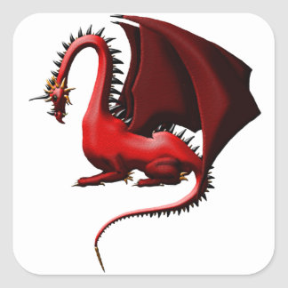 Thorn, the Red Dragon Square Sticker