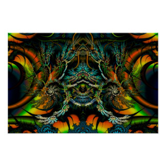 Thorne of Thornz 3D Symmetrical Fractal Poster