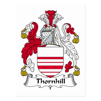 Thornhill Family Crest Postcard