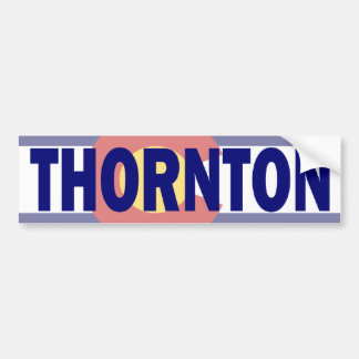Thornton, Colorado Etiqueta De Parachoque