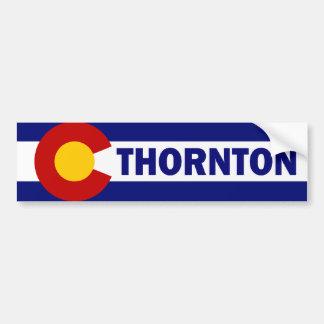 Thornton, Colorado Pegatina De Parachoque