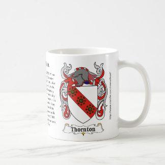 Thornton family Coats of Arms mug