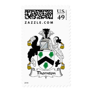 Thornton Family Crest Postage Stamps