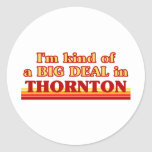 THORNTONaI am kind of a BIG DEAL in Thornton Round Stickers