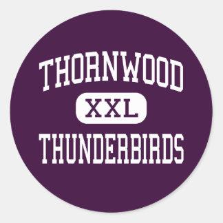 Thornwood - Thunderbirds - alto - Holanda Pegatina Redonda