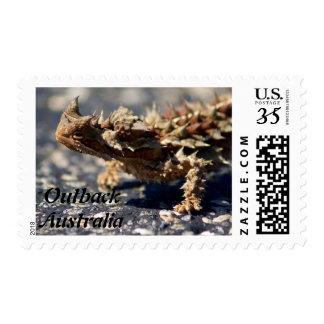 Thorny Devil Lizard Outback Australia Medium Photo Postage
