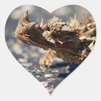 Thorny Devil Lizard, Outback Australia, Photo Heart Sticker