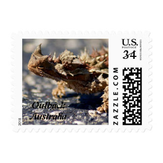 Thorny Devil Lizard Outback Australia, Small Photo Postage