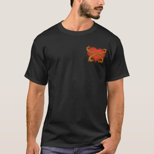 Thorny Heart Pocket Black T-Shirt