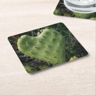Thorny Heart Square Paper Coaster