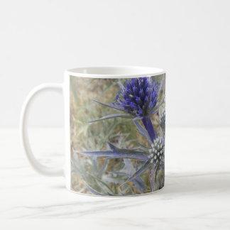 Thorny Mediterranean Flower blue Coffee Mug