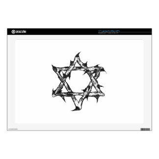 "Thorny Star Zazzle.png 17"" Laptop Skin"