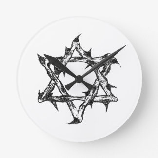 Thorny Star Zazzle.png Round Clock