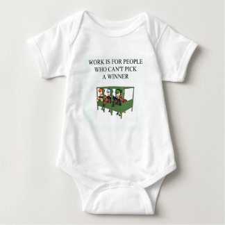 thorough bred horse racing design baby bodysuit
