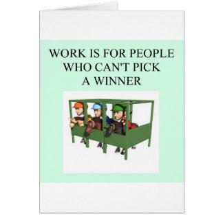 thorough bred horse racing design cards
