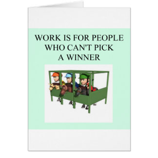 thorough bred horse racing design greeting card