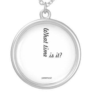 THOROUGH Clock necklac Silver Plated Necklace