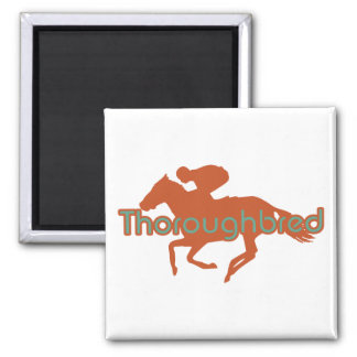 Thoroughbred 2 Inch Square Magnet