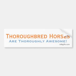 Thoroughbred Awesomeness! Bumper Sticker