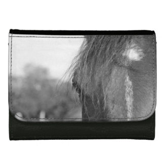 thoroughbred b/w leather wallet for women